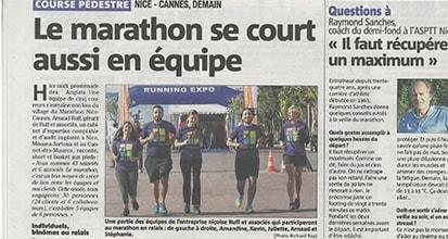 «Le marathon se court aussi en équipe»
