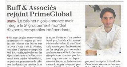 «Ruff & Associés rejoint PrimeGlobal»