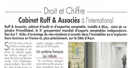 « Le cabinet Ruff & Associés à l'international »