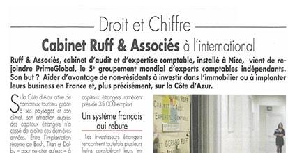 «Le cabinet Ruff & Associés à l'international»