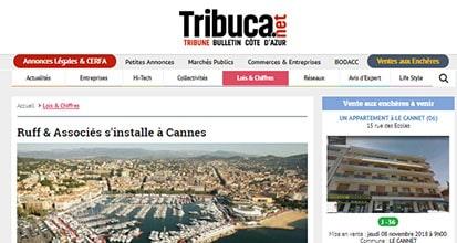 «Ruff & Associés s'installe à Cannes»