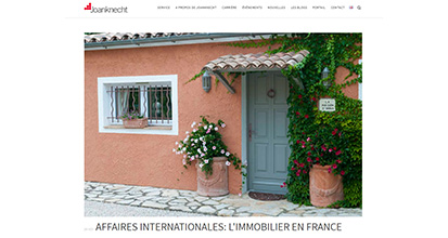 « Affaires internationales : l'immobilier en France »