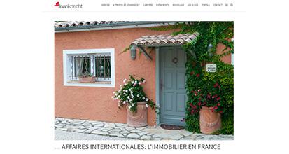 «Affaires internationales : l'immobilier en France»